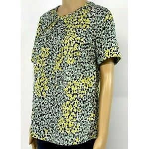 Banana Republic Women's Top Blouse Yellow Green